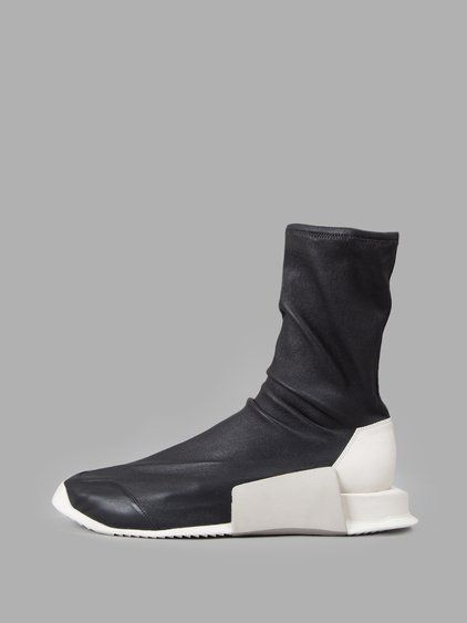 Rick Owens Black Adidas Originals Edition New Runner Sneakers for men