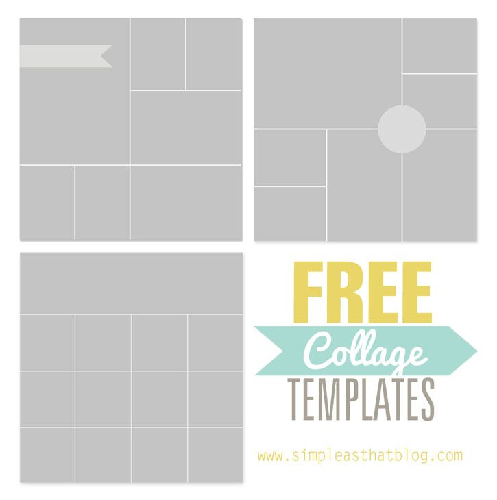 Free Photo Collage Templates From Simpleasthatblog Photoshop Memorykeeping Photos