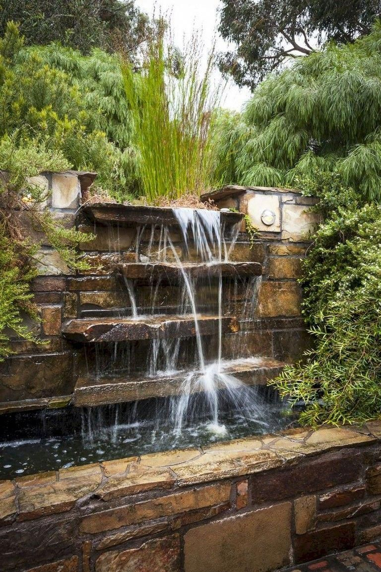 Awesome Gorgeous Front Home Landscaping Backyard Water