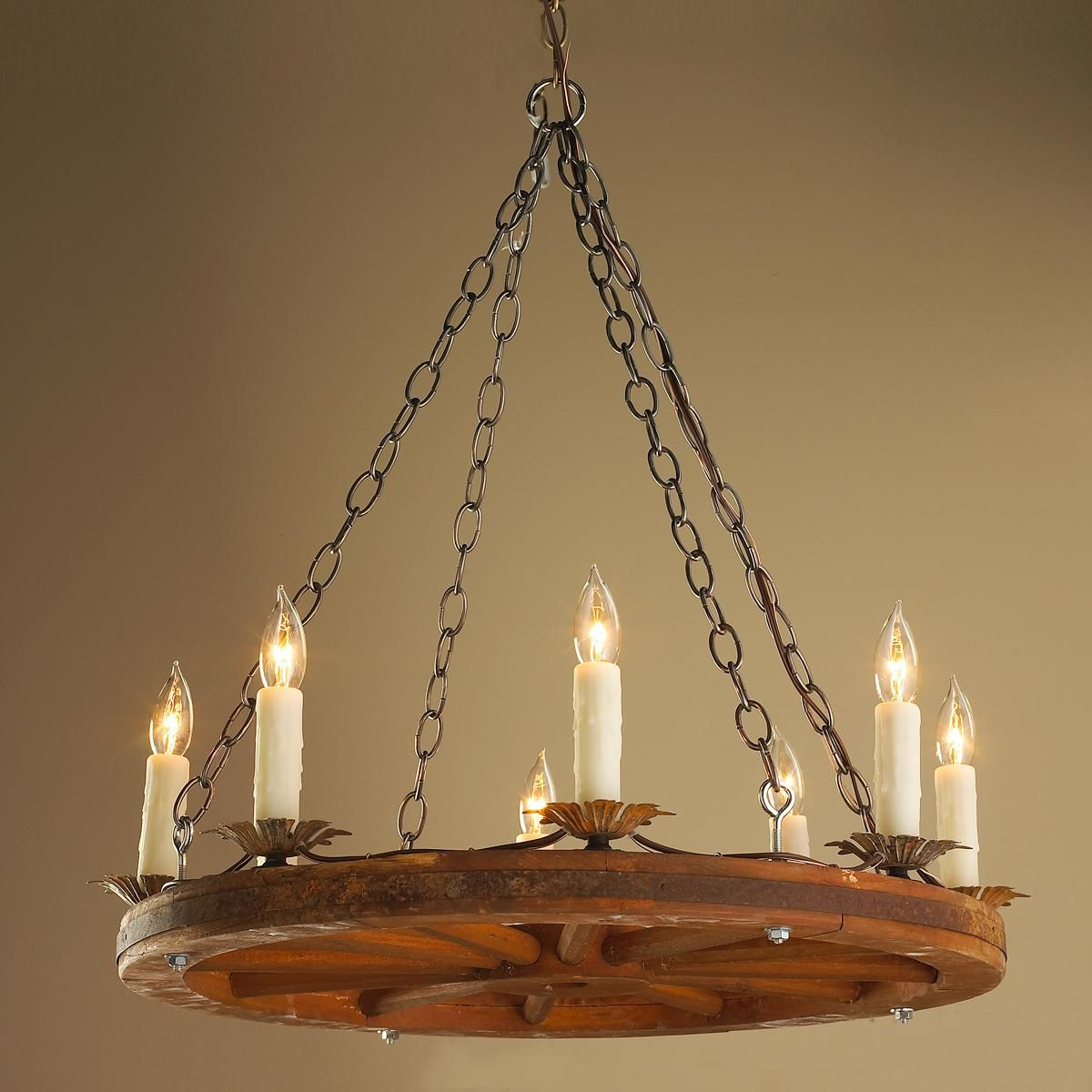 Antique 24 inch wagon wheel chandelier for the home pinterest antique 24 inch wagon wheel chandelier arubaitofo Image collections