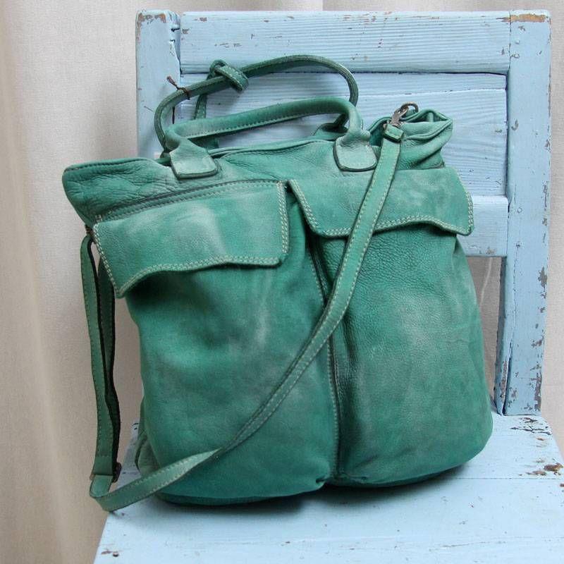 dcab1cd0a25 Caterina Lucchi turquoise leren tas | tassen - 패션 가방, 가방 en 패션