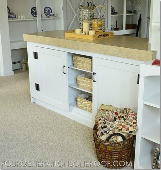 DIY built-in barn doors {tutorial Pinterest - ideen fur kleine wohnzimmer