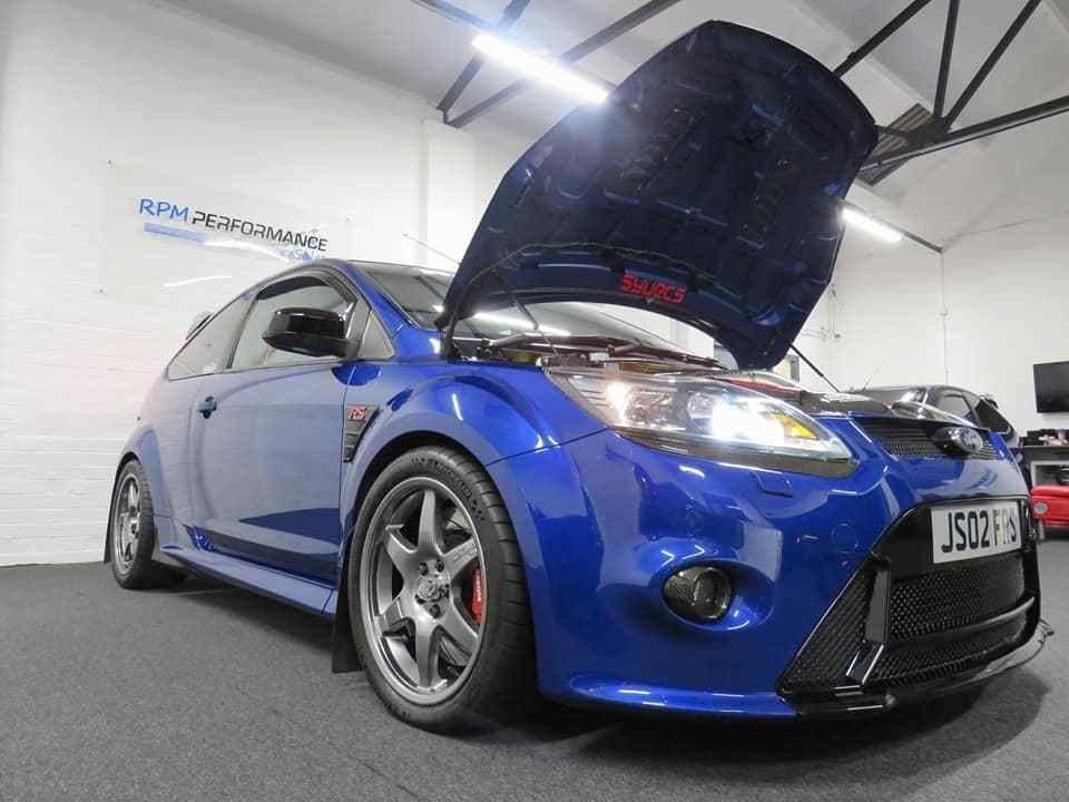 Click The Link To See More Pics And Details Of This Ford Focus Rs Mk2 Syvecs Gtx3582r Turbo Kit Ap Brakes 570bhp 3j Diff Fsh Ford Focus Rs Ford Focus