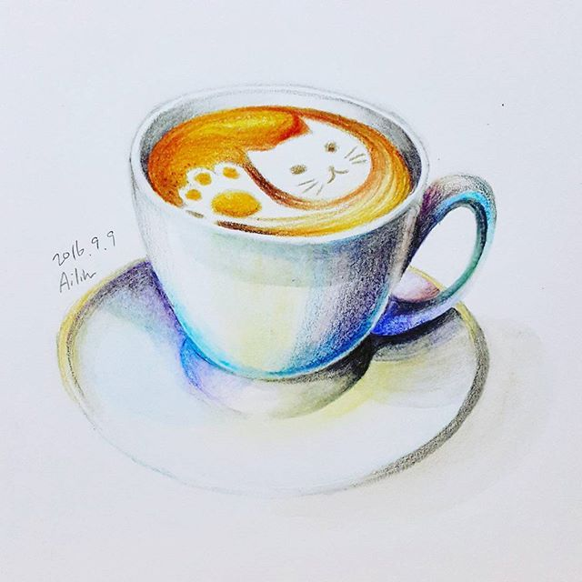 I would like a cup of coffee. How about you?  #prismacolor #dongafable #aquarellepencils #watercolor #coloredpencil #illustration #drawing #cat #latteart #coffee #cupofcoffee #coffeecup #cafe #cafelatte #라떼아트 #일러스트 #일러스트레이션 #miniillustration #드로잉스타그램 #드로잉 #색연필 #고양이 #커피 #그림스타그램 #그림 #일러스트그램