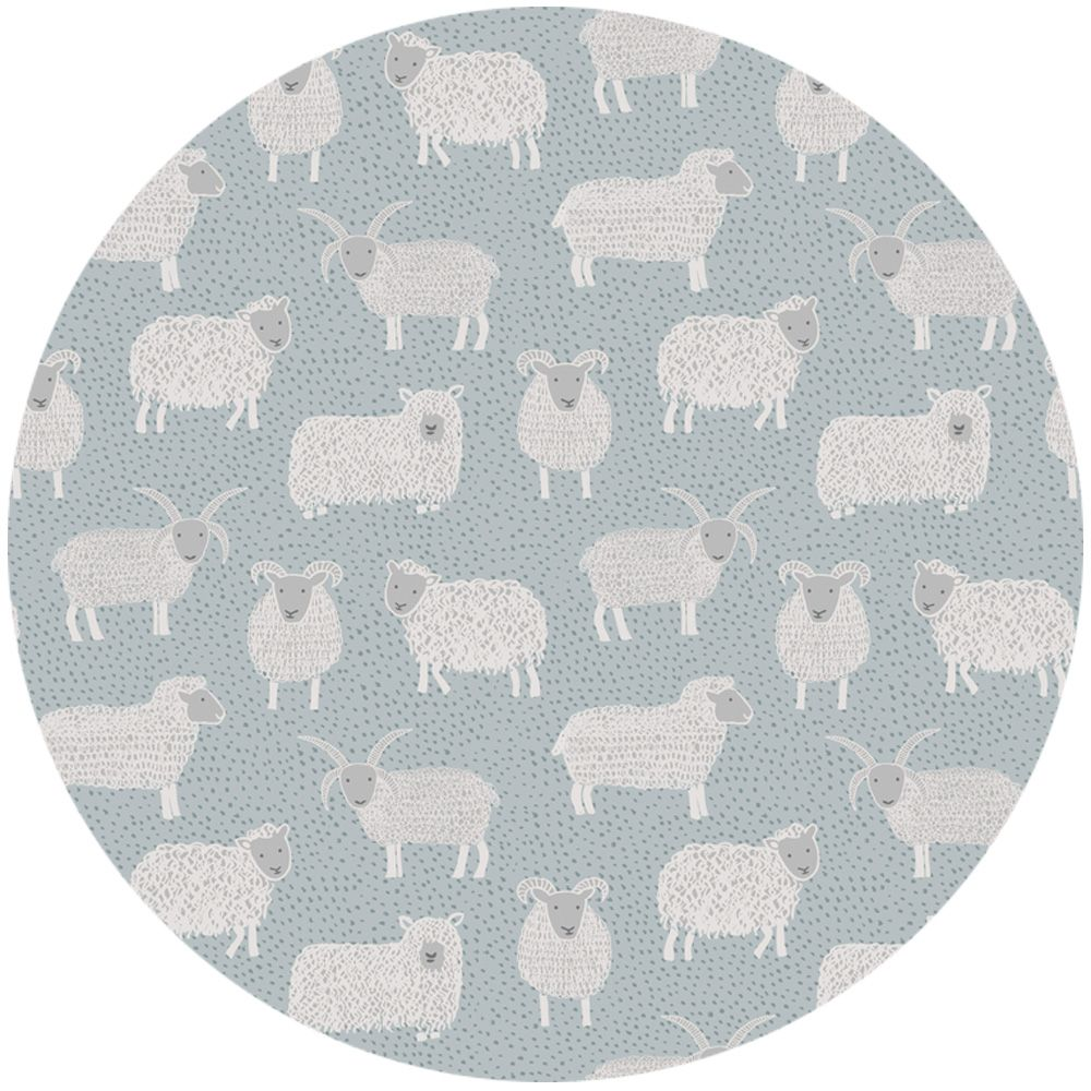 "Lewis & Irene, Country Life, Woolley Sheep Country Blue  Fabric is sold by the 1/2 Yard. For example, if you would like to purchase 1 Yard, you would enter 2 in the Qty. box at Checkout. Yardage is cut in one continuous piece.  Examples:  1/2 yard = 1 1 yard = 2 1 1/2 yards = 3 2 yards = 4   1/2 Yard Measures 18"" x 44/45""   Fiber Content: 100% Cotton  Hover over image for a larger, better view."
