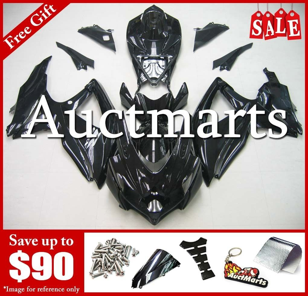 For Suzuki GSX-R600 GSX-R750 2008-2010 09 Fairing Plastic Plain Black 2j58 PZ