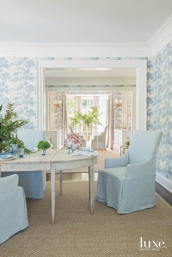 Tree Design Wallpaper Living Room: A Pastel Palette Turns A Farmhouse Into A Getaway