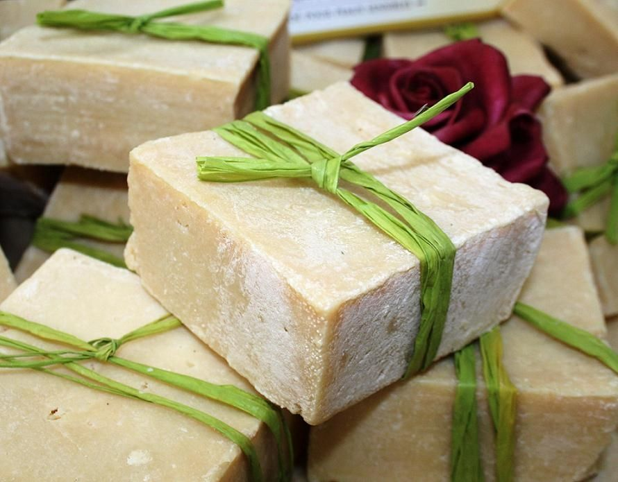 Olive oil Soap, good for the skin. Homemade body wash