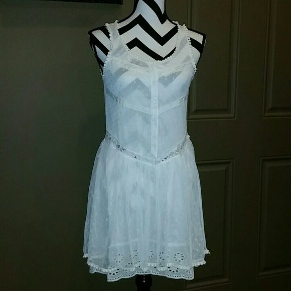 Sundress Lace & I let button front tank style drop waist. Cute with leggings too Dresses