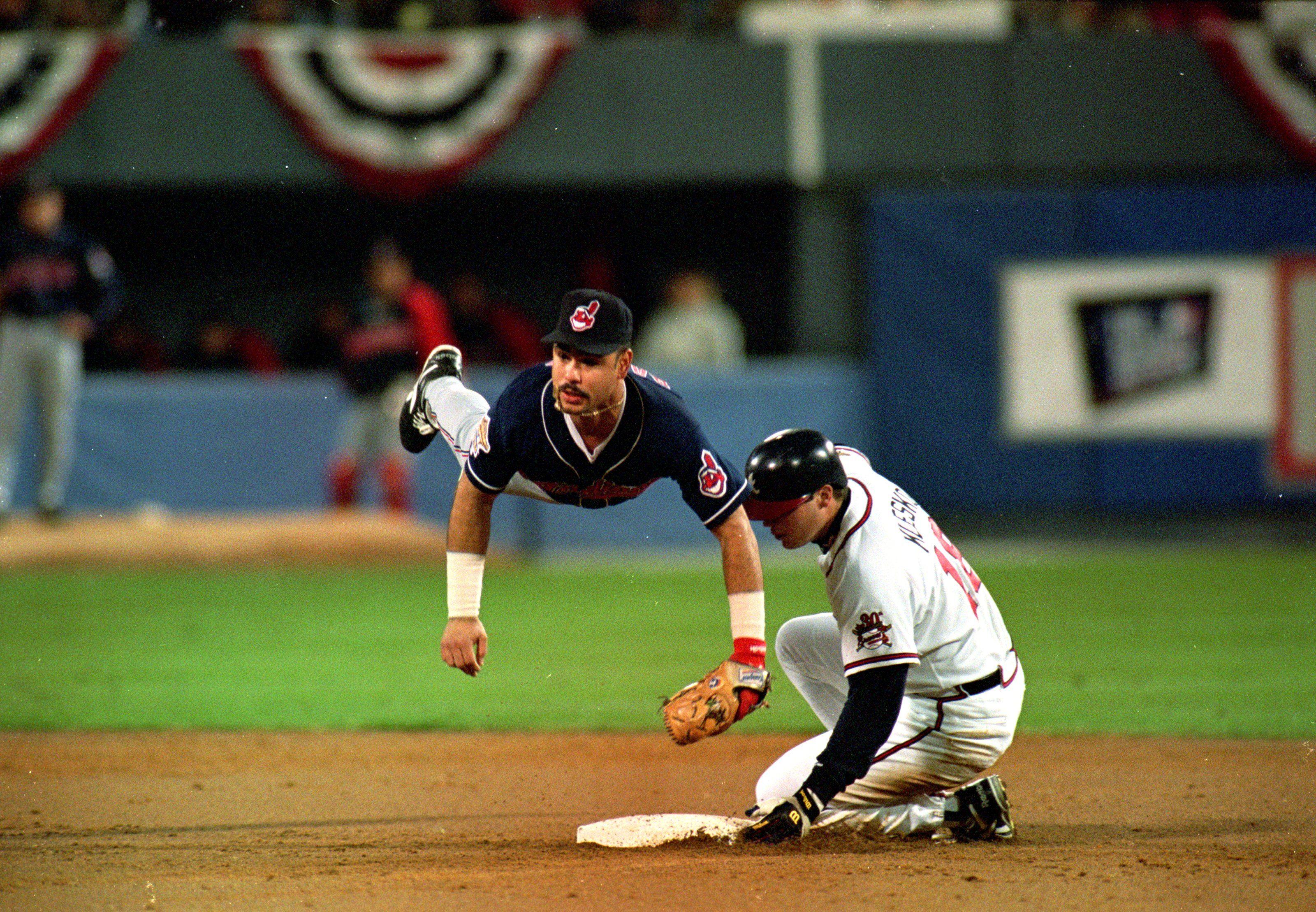 Carlos Baerga 1995 World Series Cleveland Indians Baseball Cleveland Indians Indians Baseball