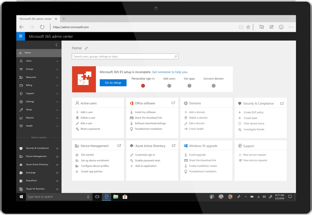 Introducing the Microsoft 365 Admin Center | Dock - The
