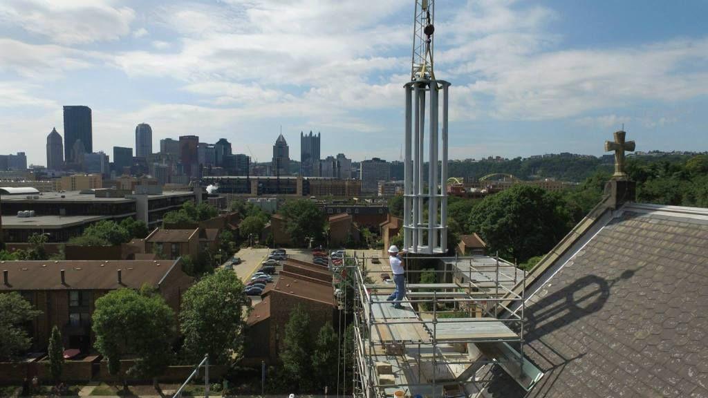 Cupola and Statue of Saint Peter Restoration   Saint Peter Parish ● North Side, Pittsburgh, PA