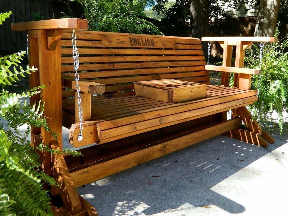 5ft Handmade Southern Style Wood Porch Glider Patio Glider Glider