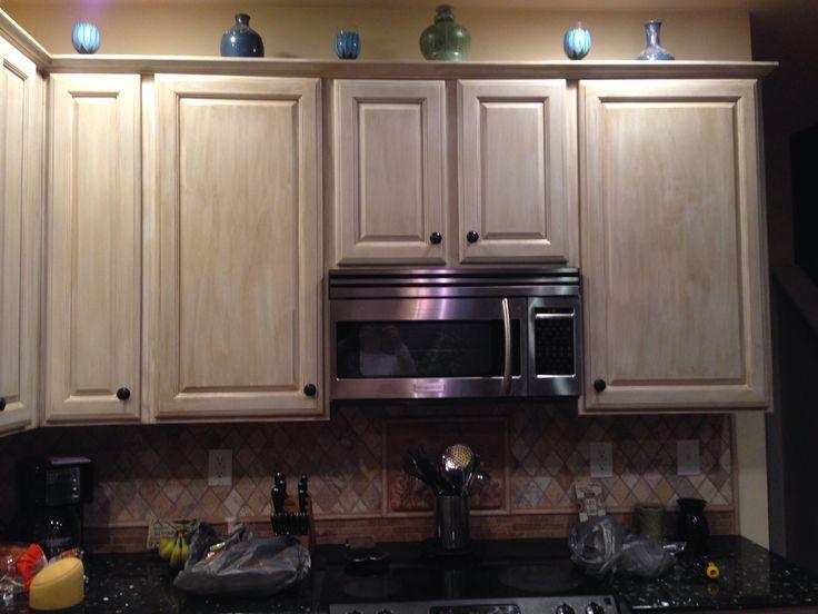 lovely whitewashed oak kitchen cabinets | white washed distressed cabinets kitchen pinterest oak ...