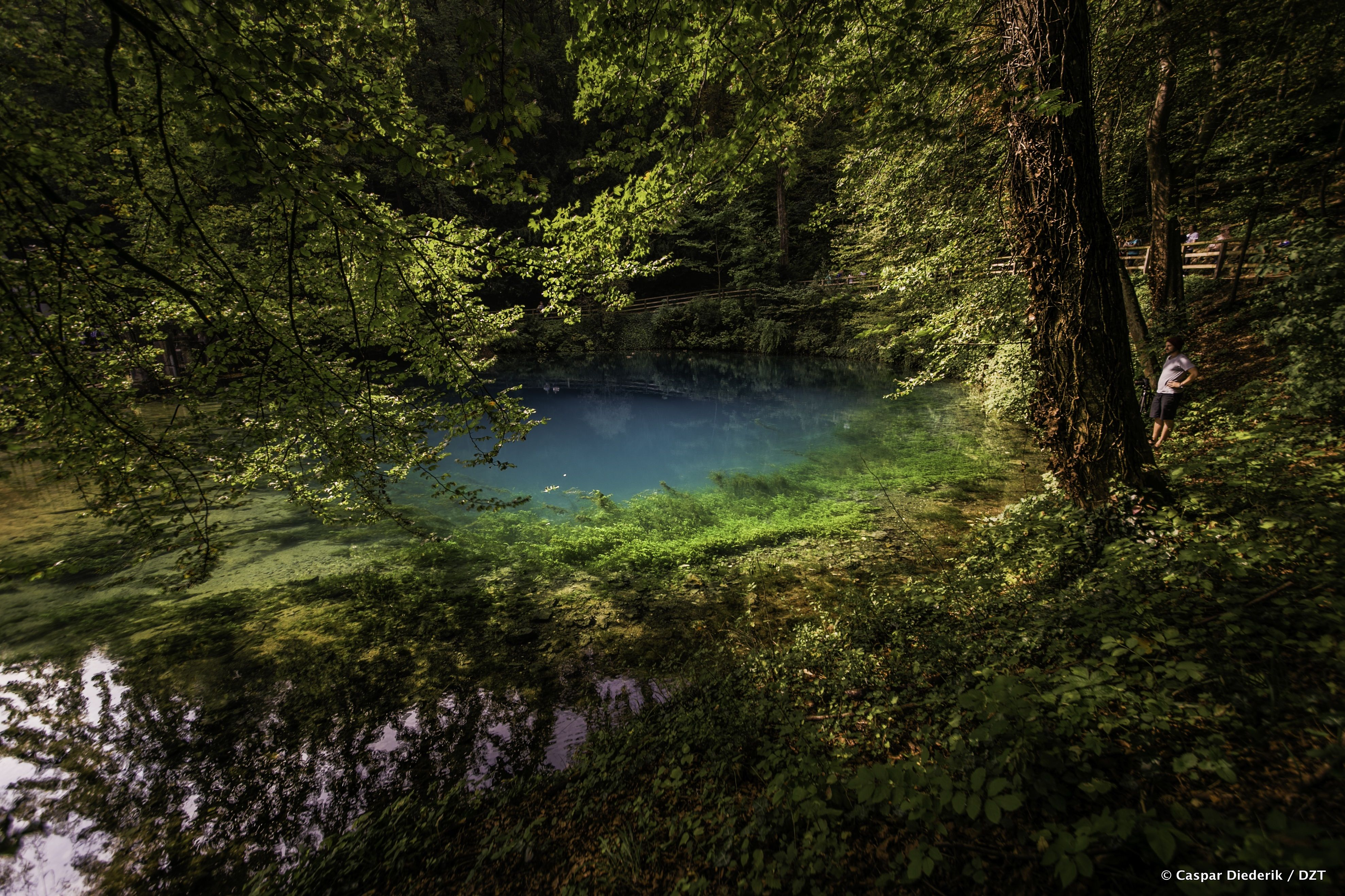 "The famous ""Blautopf"" (""blue pot"") in Germany, known for"