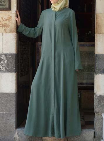 "Amina Light Jilbab Dress Save 54% Sage color  The lightweight Amina Jilbab is exactly what you need in your closet this season. The fabric is so lightweight and breezy, we couldn't help but put light"" in the name. This most essential grab-and-go piece can be paired with anything, so go ahead- get more than one color."