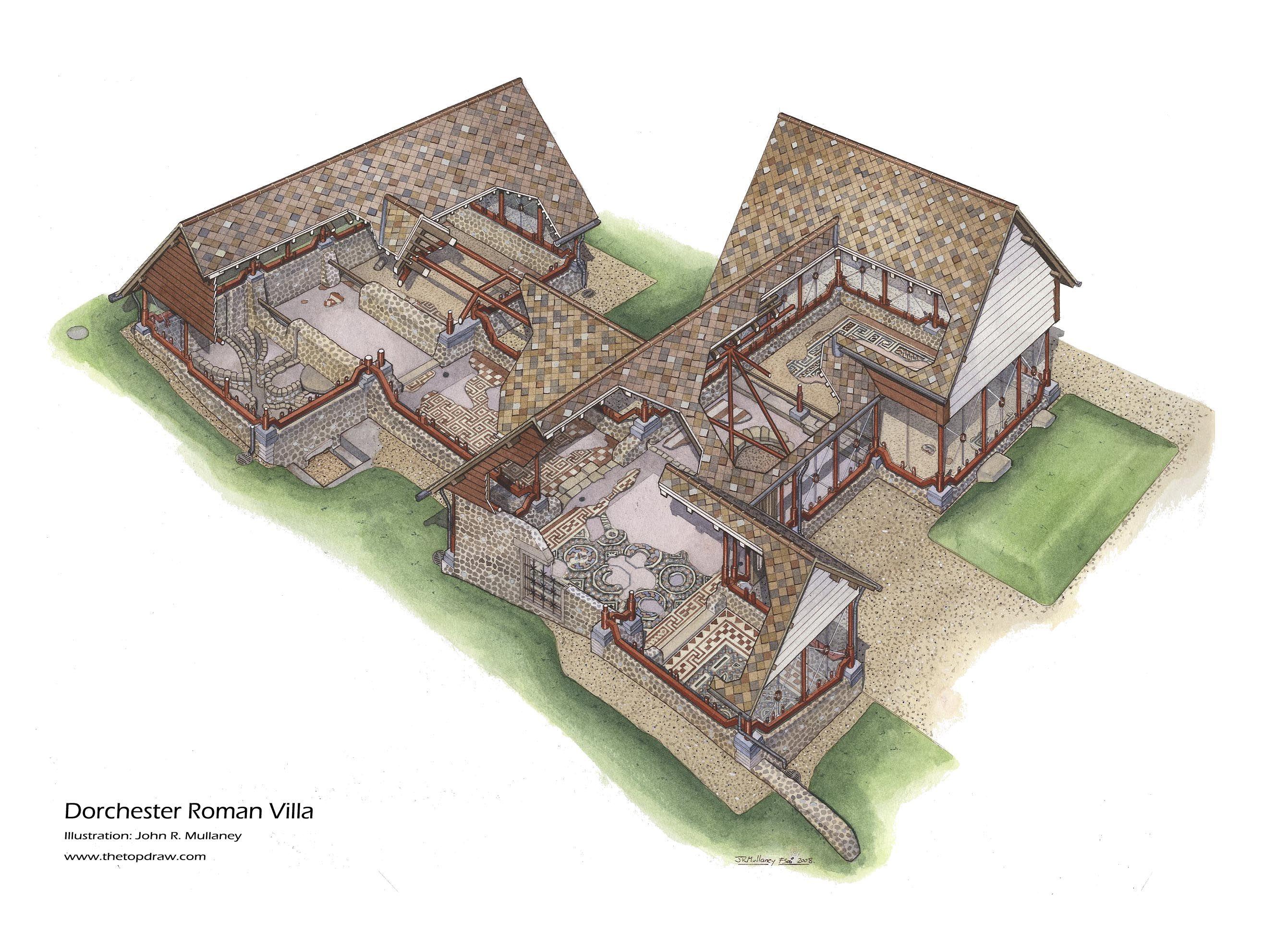 Dorchester Roman Villa Roman Britain Ancient Buildings Ancient Rome