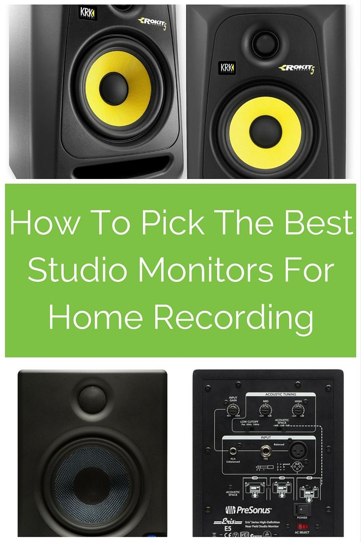 The Best Studio Monitors For Home Recording in 2019: A