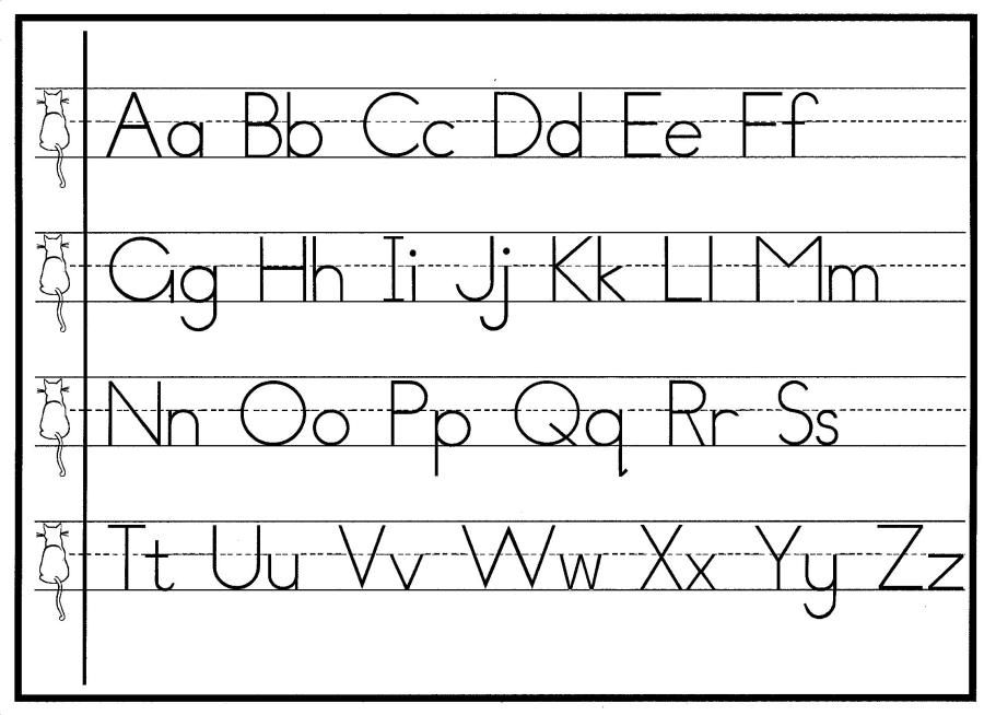 print handwriting chart upper lower tog cat