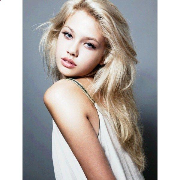 Golden Light Blonde Hair Model Hanna E Celebrity Inspired Style