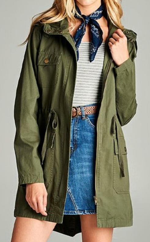 5001c45cd2e Olive Cotton Utility Jacket (1XL thru 3XL) | Olive | Jackets, Cargo ...