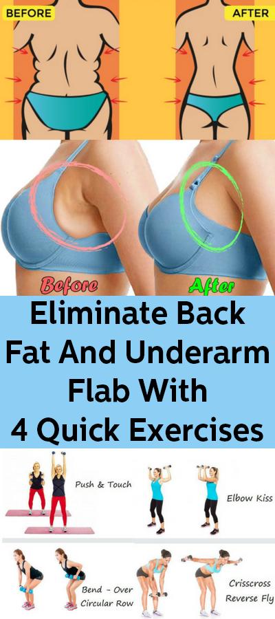 Beseitigen Sie Rückenfett und Achseln mit 4 schnellen Übungen #weightloss