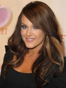 Pictures Lacey Schwimmer Hairstyles Brown Hair With Caramel Blonde