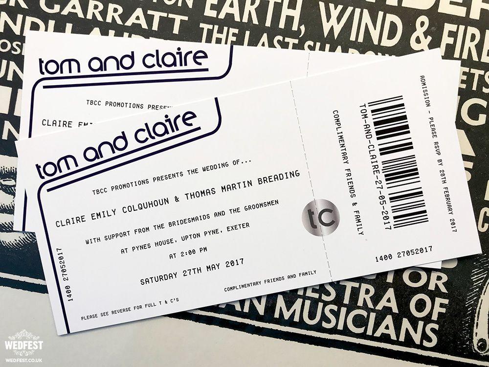 gig ticket wedding invites   wwwwedfest/concert-ticket - concert ticket invitations
