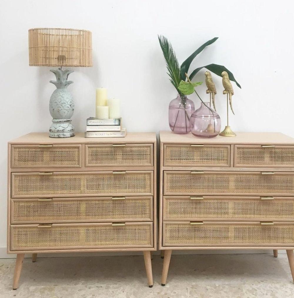 Hera Rattan Dresser Cabinet Commode Handmade Bedroom Etsy In 2021 Dresser Decor Wicker Dresser Beautiful Dresser [ 1013 x 1000 Pixel ]