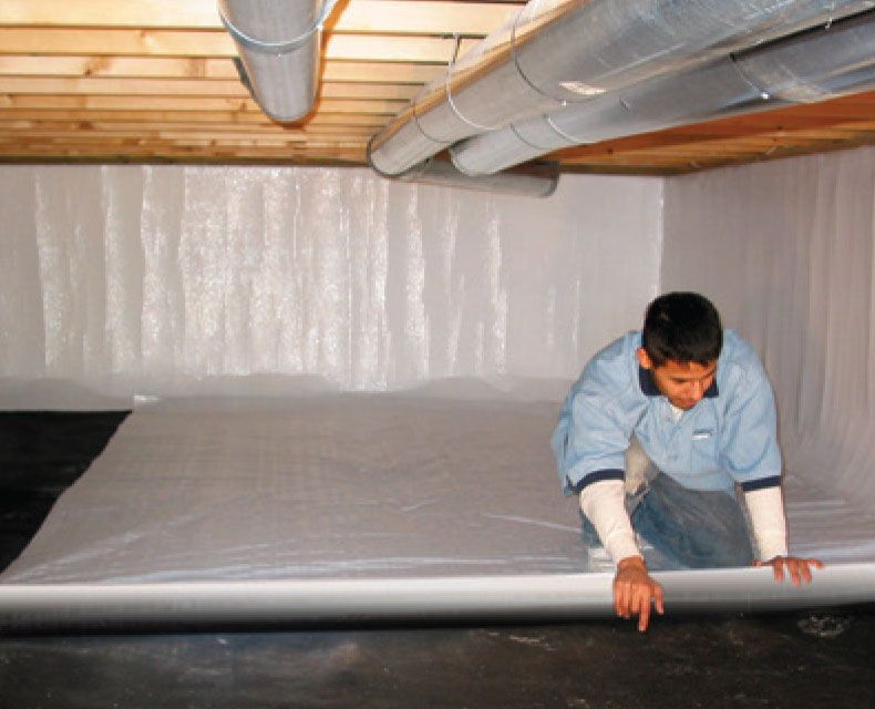 Crawl Space Encapsulation Remodeling Mobile Homes Home Insulation Building A House