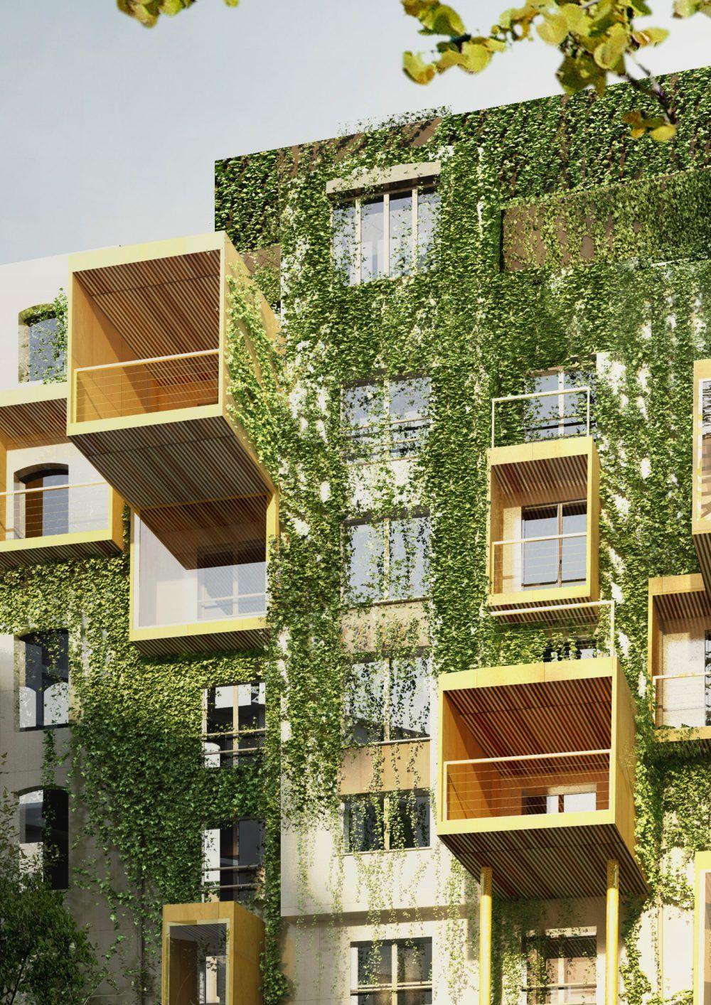 Plug in city i habiter les facades i paris 2017 st phane malka architecture ref immeuble - Immeuble vegetal ...