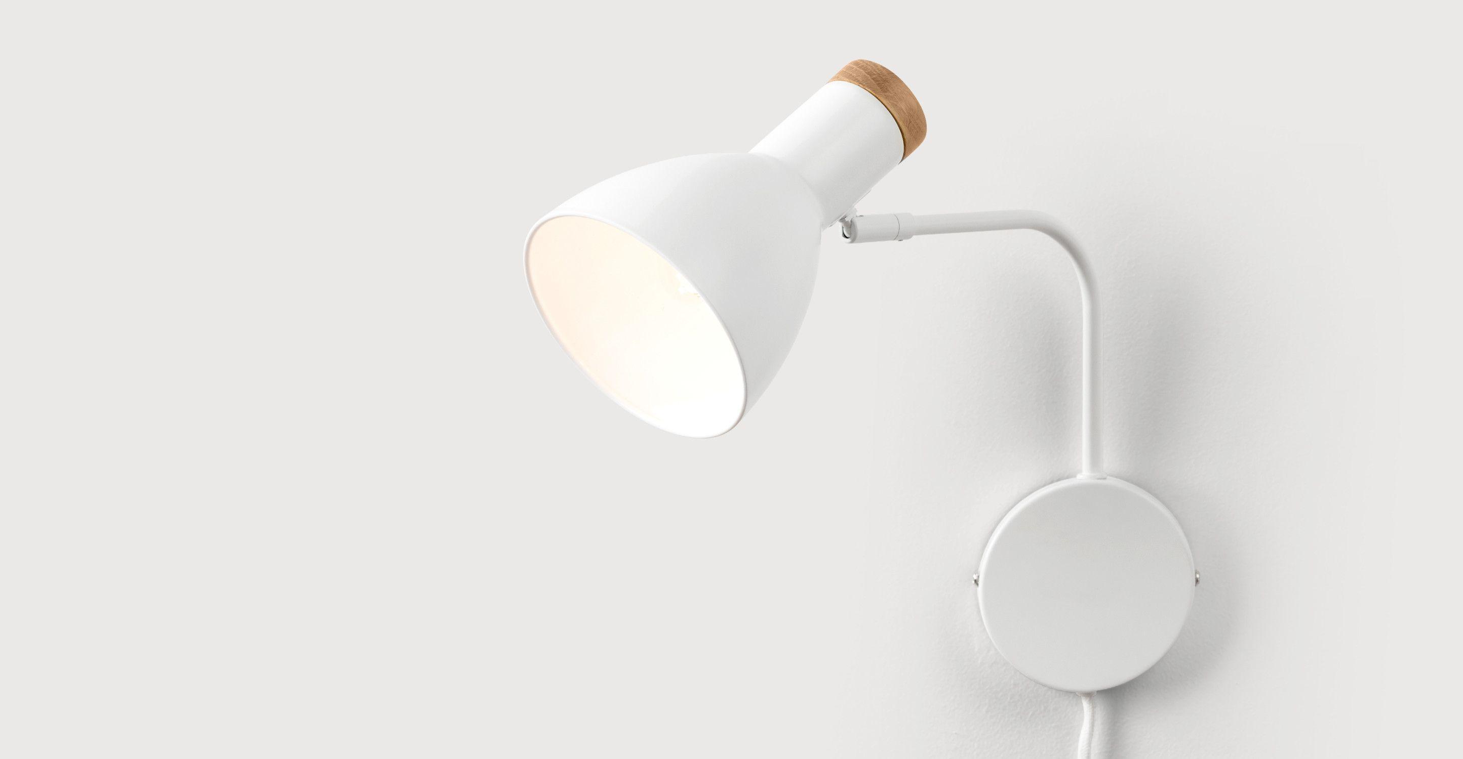 Cohen Applique Murale Avec Prise Blanc Et Chene Wandlamp Lampen Muur