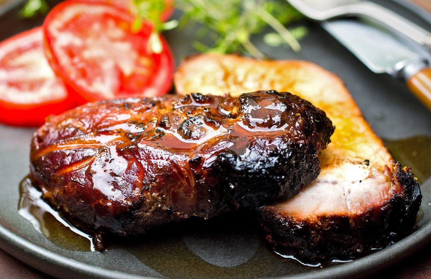 Recipe: Grilled Pork Loin With Wine-Salt Rub by Melissa Clark || Photo: Andrew Scrivani for The New York Times