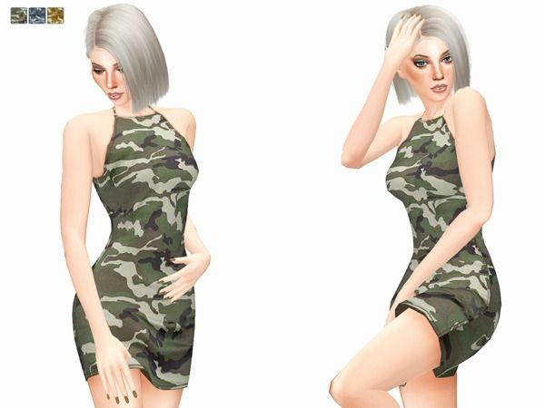 4 CcwomenSims ItsleelooTs4 Camo By Dress Women's 1FTlKJc