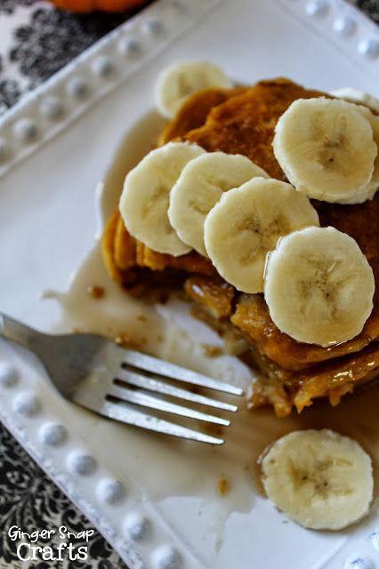 Ginger Snap Crafts: Pumpkin Pancakes {recipe}