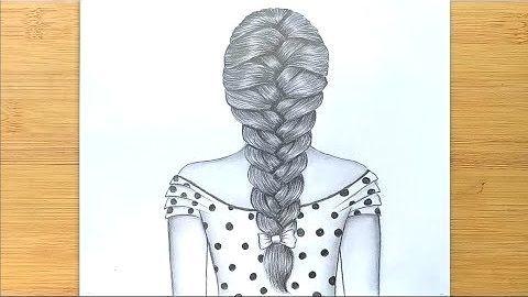 Wie man Zöpfe zeichnet / Einfache Art, Haare zu zeichnen – Schritt für Schritt: Wie man Zöpfe zeichnet / …