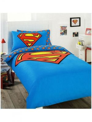 Superman Bedding Quilt Cover Set Single With Images Superman