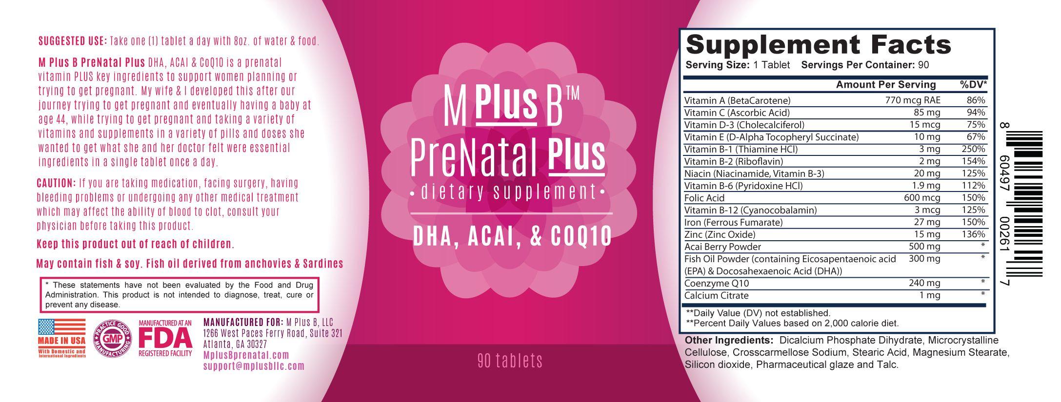 a prenatal plus dha, acai, & coq10 | prenatal plus dha acai & coq10