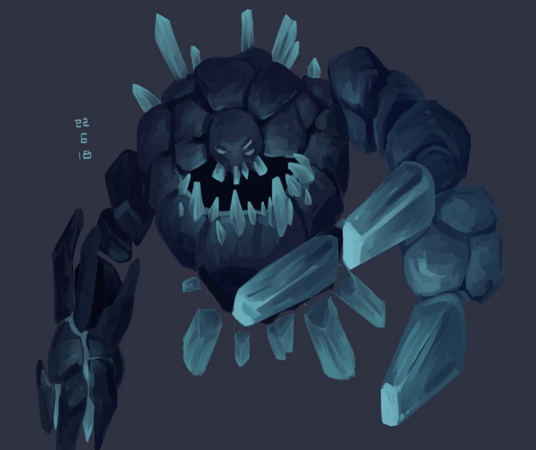Crystal Monster digital x Art in Pinterest Art