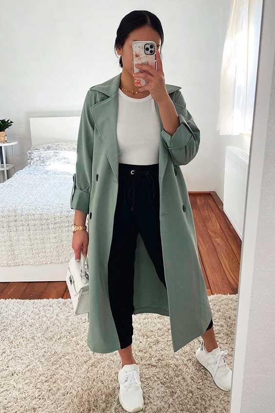 Looks básicos com trench coat
