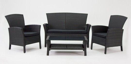 Outdoor Living Direct   outdoor furniture breeze-black-black-sofa ...