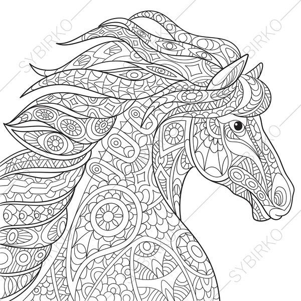 Coloring Pages For Adults Mustang Horse Adult Coloring Pages