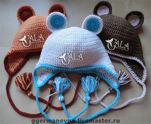 вязаные шапочки для новорожденных крючком крючок и спицы вязание