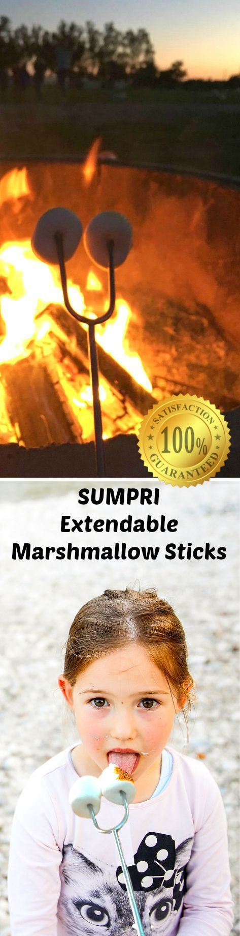 SUMPRI Barbeqa Marshmallow Roasting Sticks Telescoping Marshmallow Jungle Stix Extra Long 34 Set of 6 Campfire Forks Cooking Skewers for Smores, Hotdogs, Camping Cookware, Backpacking Gear, Bbq Grill, Fireplace Tools, Fire Pit Accessories This set of 6 forks is made by #sumpri #marshmallow #sticks #marshmallowroastingsticks #smoressticks #campfiresticks #smores #smoressticks SUMPRI Barbeqa Marshmallow Roasting Sticks Telescoping Marshmallow Jungle Stix Extra Long 34 Set of 6 Campfire Forks Cook #marshmallowsticks