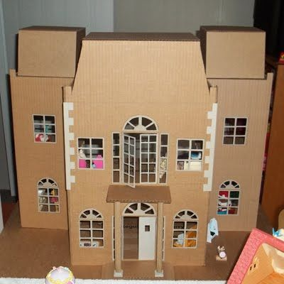 Make a model house out of cardboard