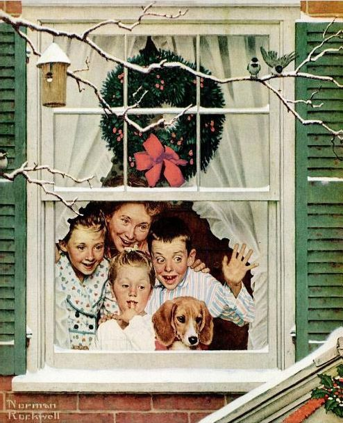 pop with a new plymouth norman rockwell christmas 1951 by Captain Geoffrey Spaulding, via Flickr