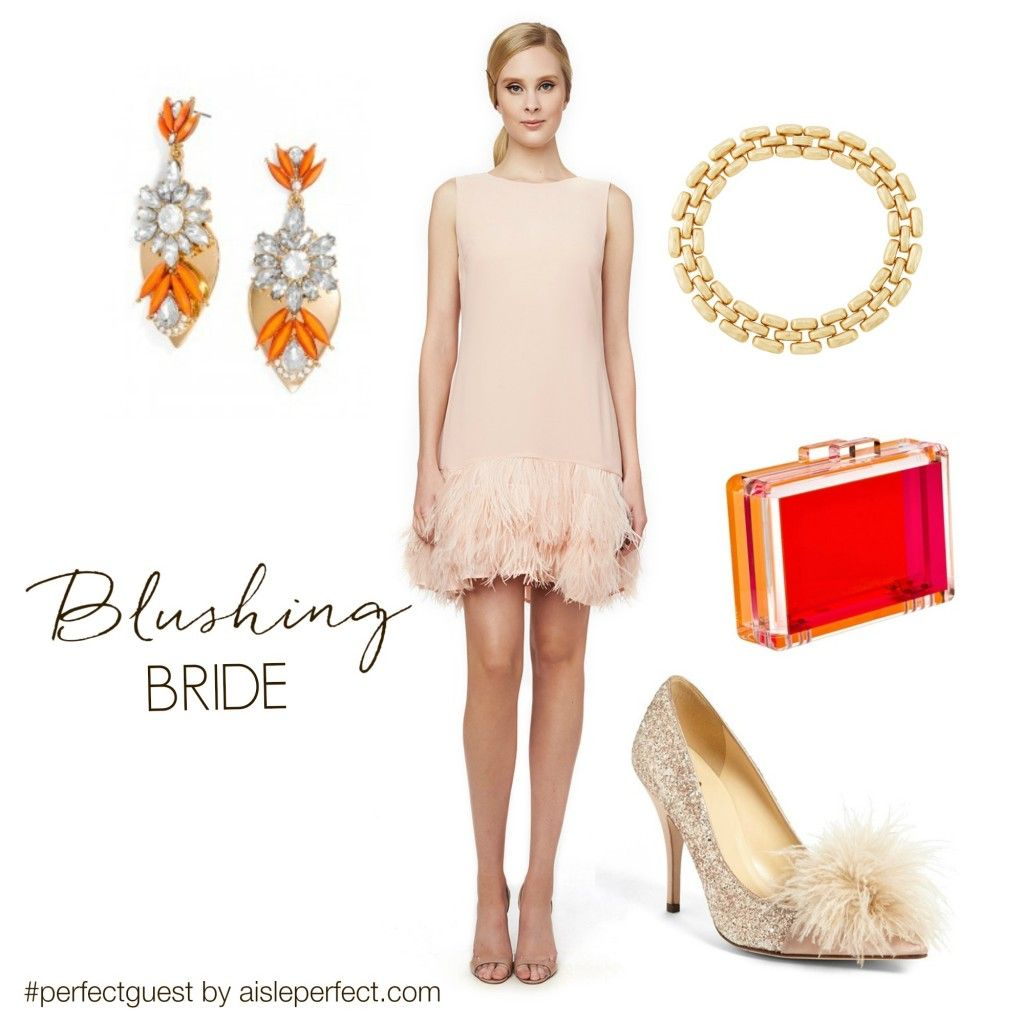 Perfect guest blush weddings blush outfit and roaring s