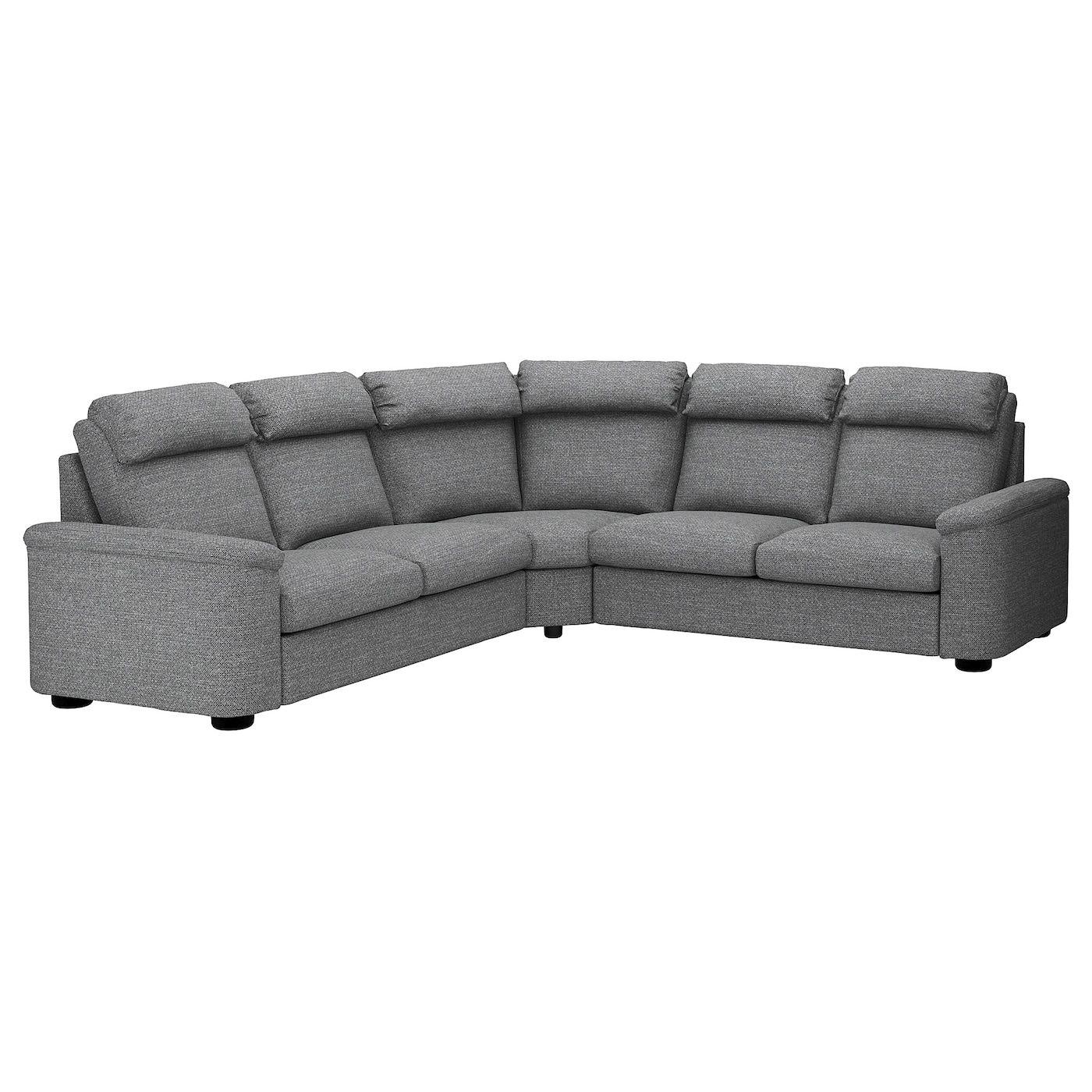 Lidhult Ecksofa 5 Sitzig Lejde Grau Schwarz Ikea Ecksofa Sofa