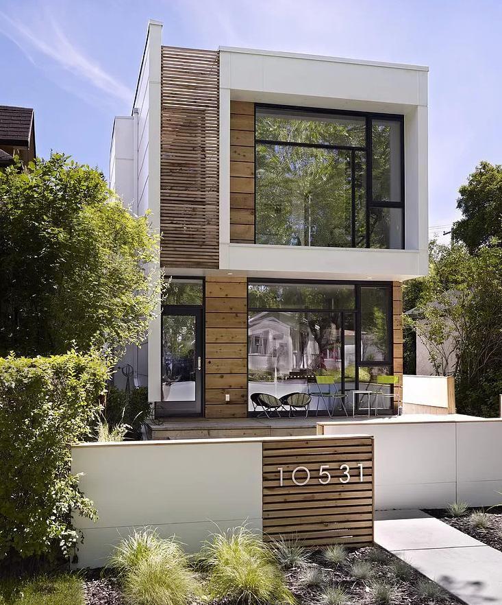 Fachadas de sobrados estreitos modelos de fachadas de for Casas modernas futuristas