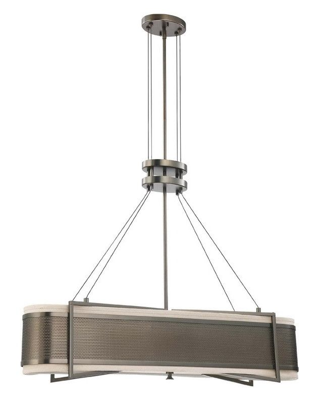 Nuvo lighting 60 4035 diesel collection four light energy star efficient fluorescent gu24 island chandelier in hazel bronze finish